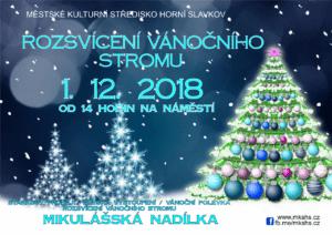 Horní Slavkov - Rozsvícení vánočního stromu