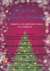 Rozsvícení Vánočního stromu Lázně Kynžvart
