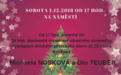 Rozsvícení Vánočního stromu – Lázně Kynžvart