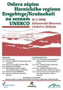 Oslava zapisu Jachymova UNESCO