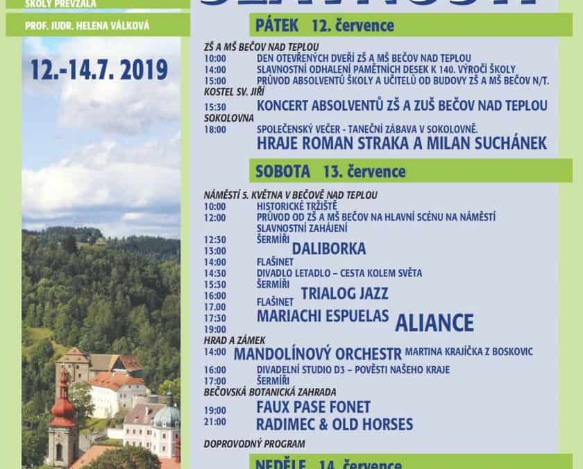XVI. Bečovské slavnosti 2019